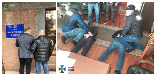 Результат пошуку зображень за запитом Правоохоронці затримали посадовців Мін'юсту на хабарі у понад 1 мільйон доларів